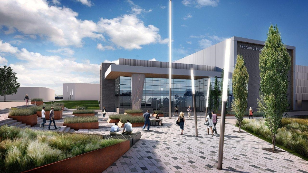 Exterior image of Oldham Leisure Centre