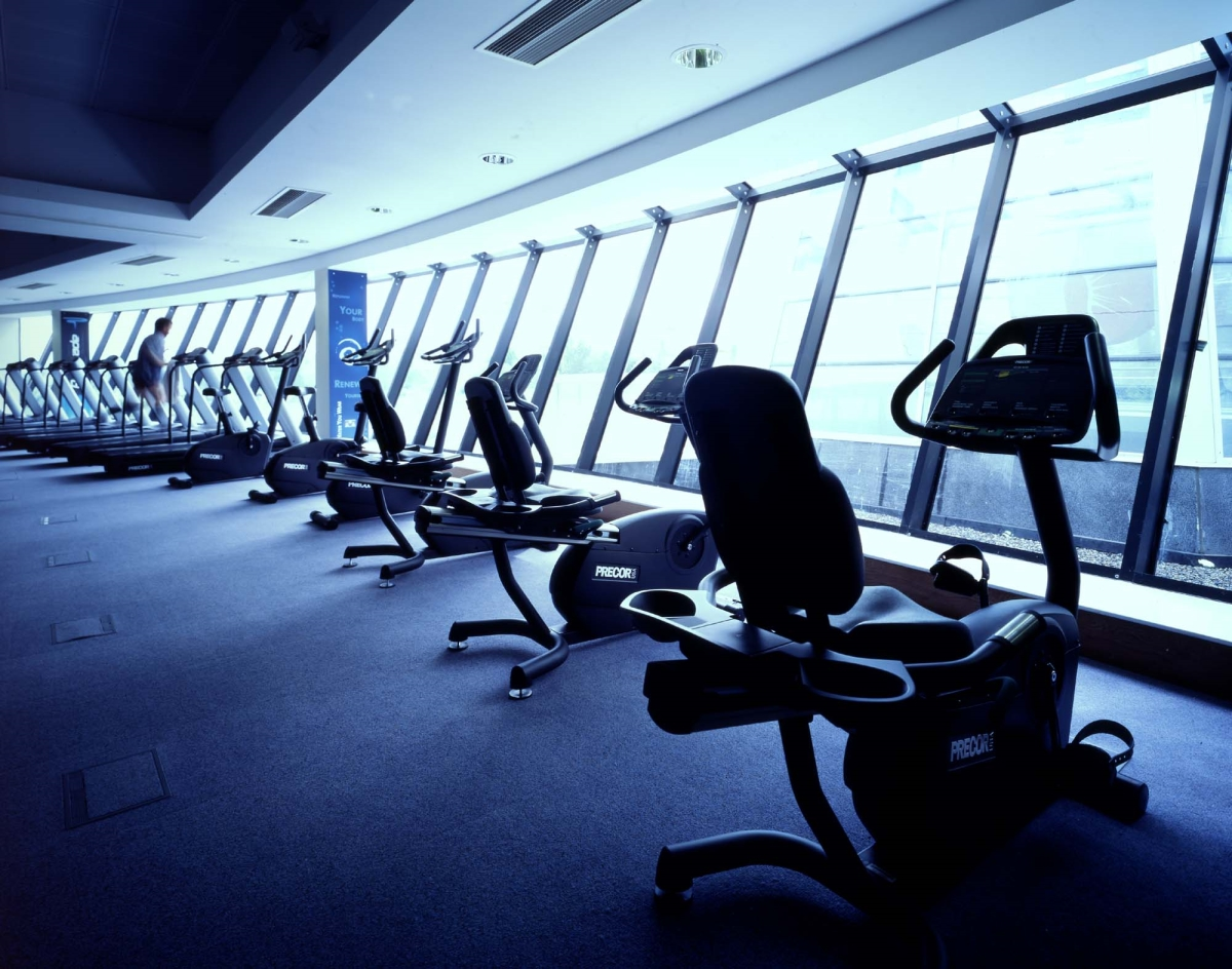 Interior image of fitness equipment in the new NAC in Dublin