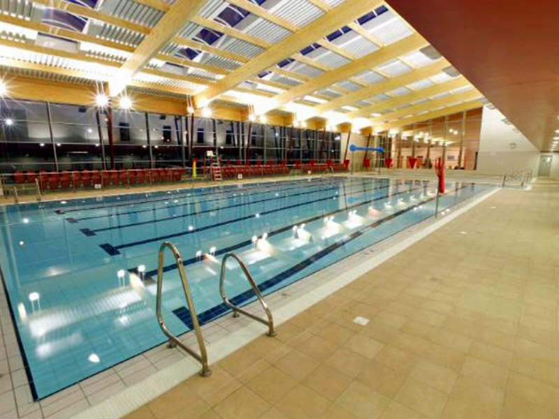 Interior image of new Bray swimming pool
