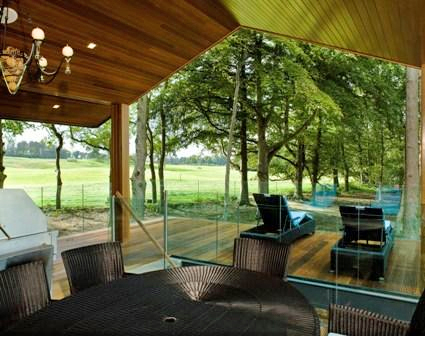 Interior image of Carton show home looking into the gardens