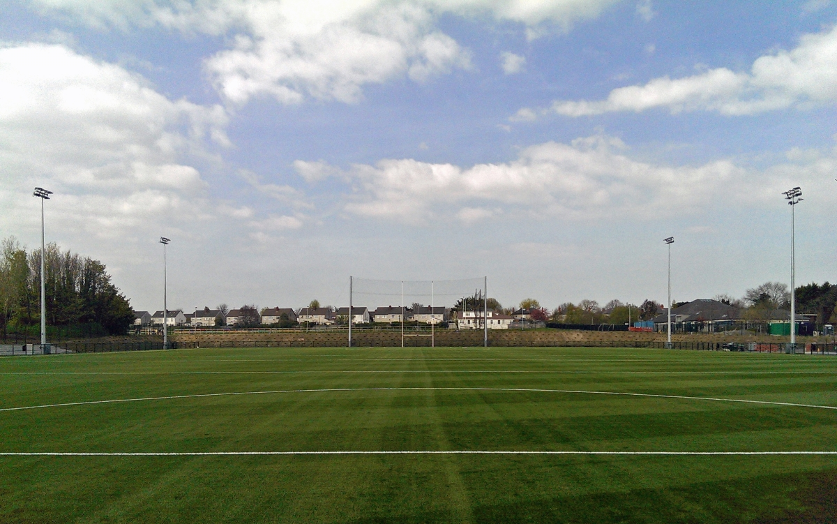 Exterior image of Dublin City University football pitch
