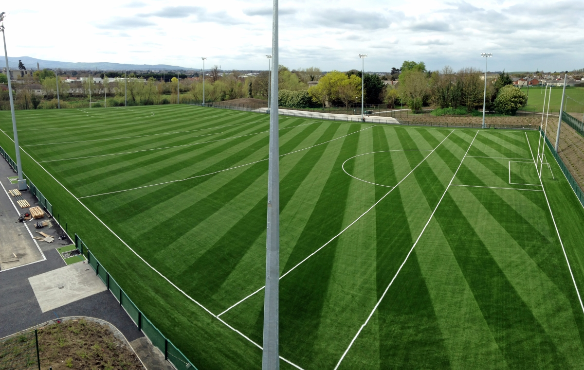 Arial image of DCU football pitch