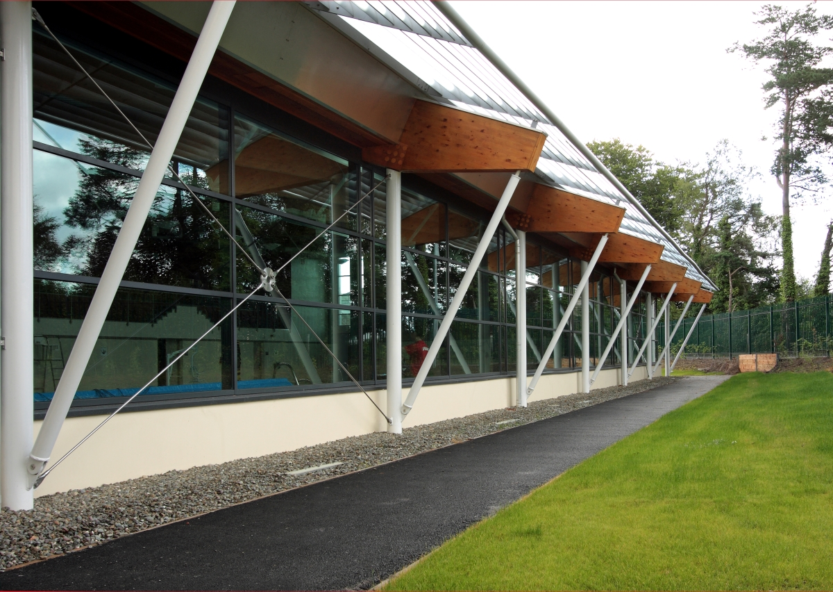 Exterior image of new leisure centre