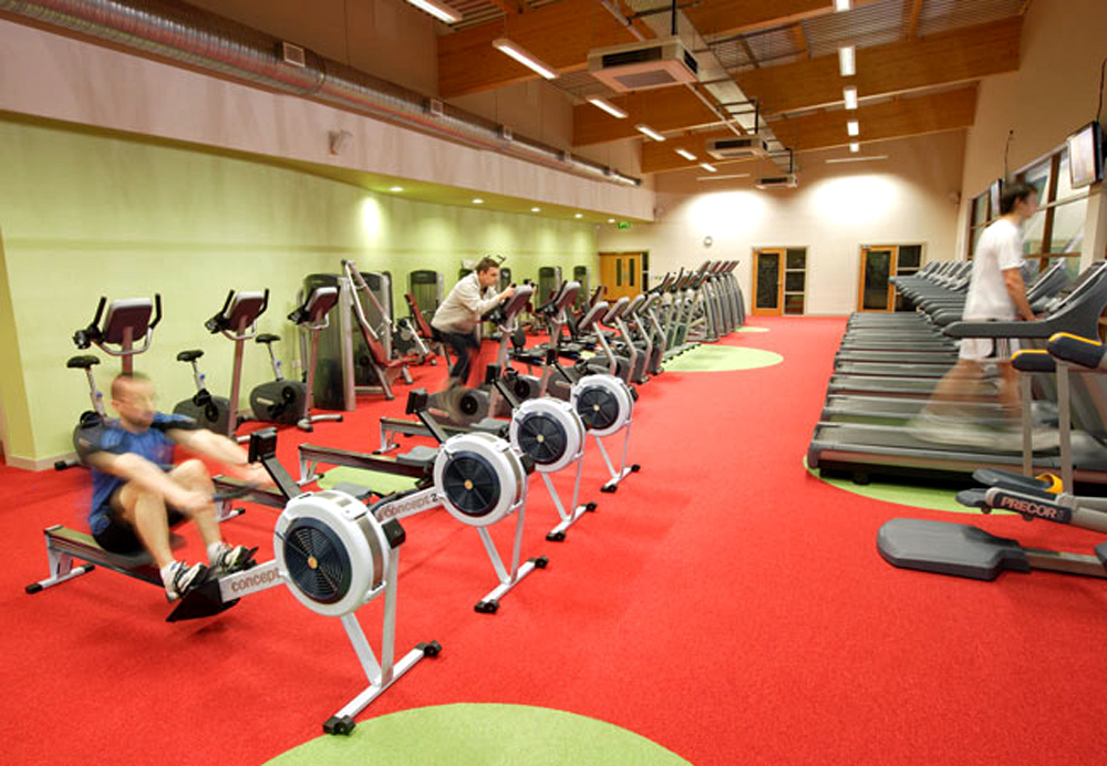 Interior image of Greystones gym and fitness area