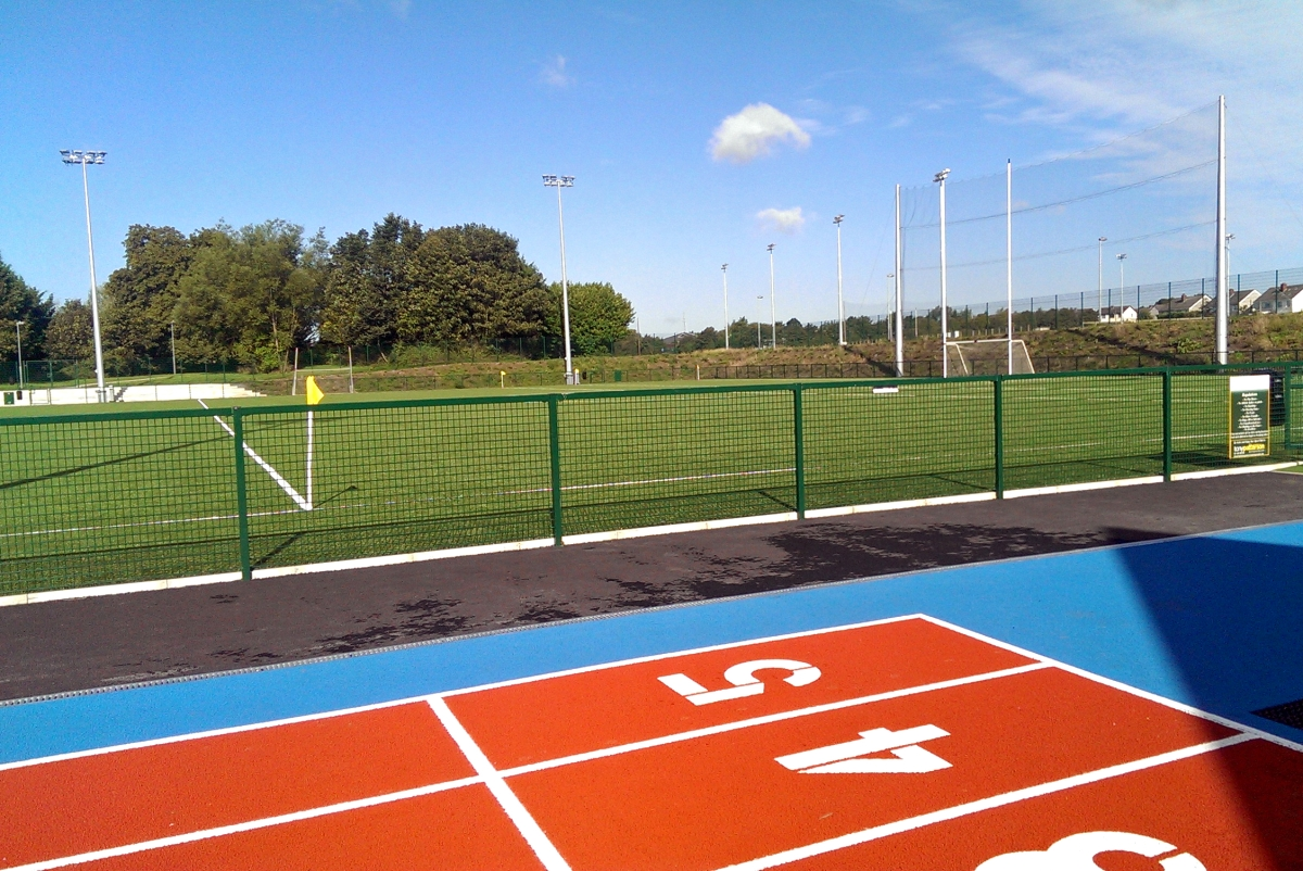 Exterior image of DCU football pitch and new running track