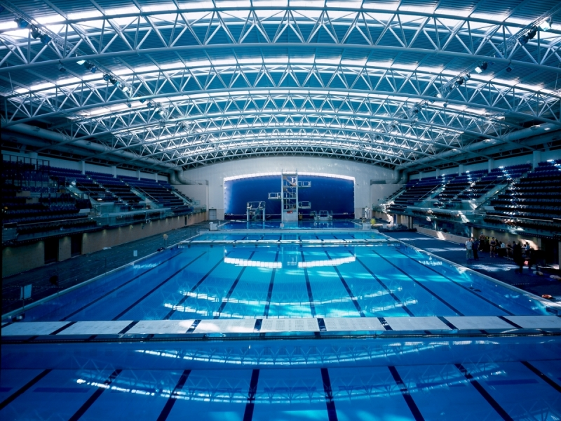 Interior image of new NAC Swimming Pool