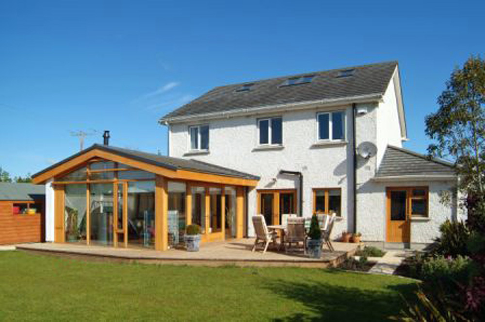 Exterior image of sunroom extension in Maynooth