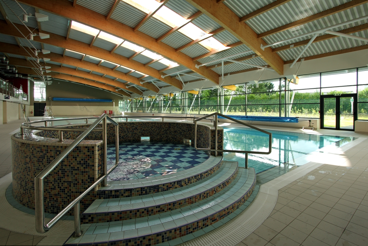 Interior image of new pool and hot tub area