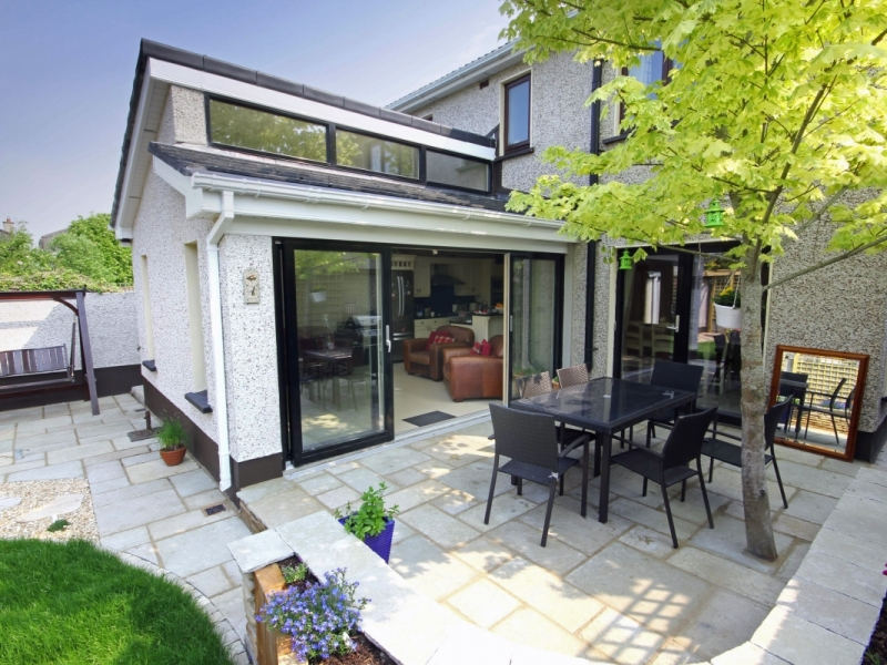 Exterior image of living extension looking in from the garden