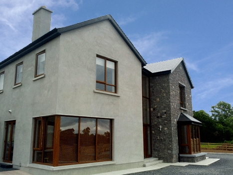 Exterior image of new build home in Clobonny Westmeath