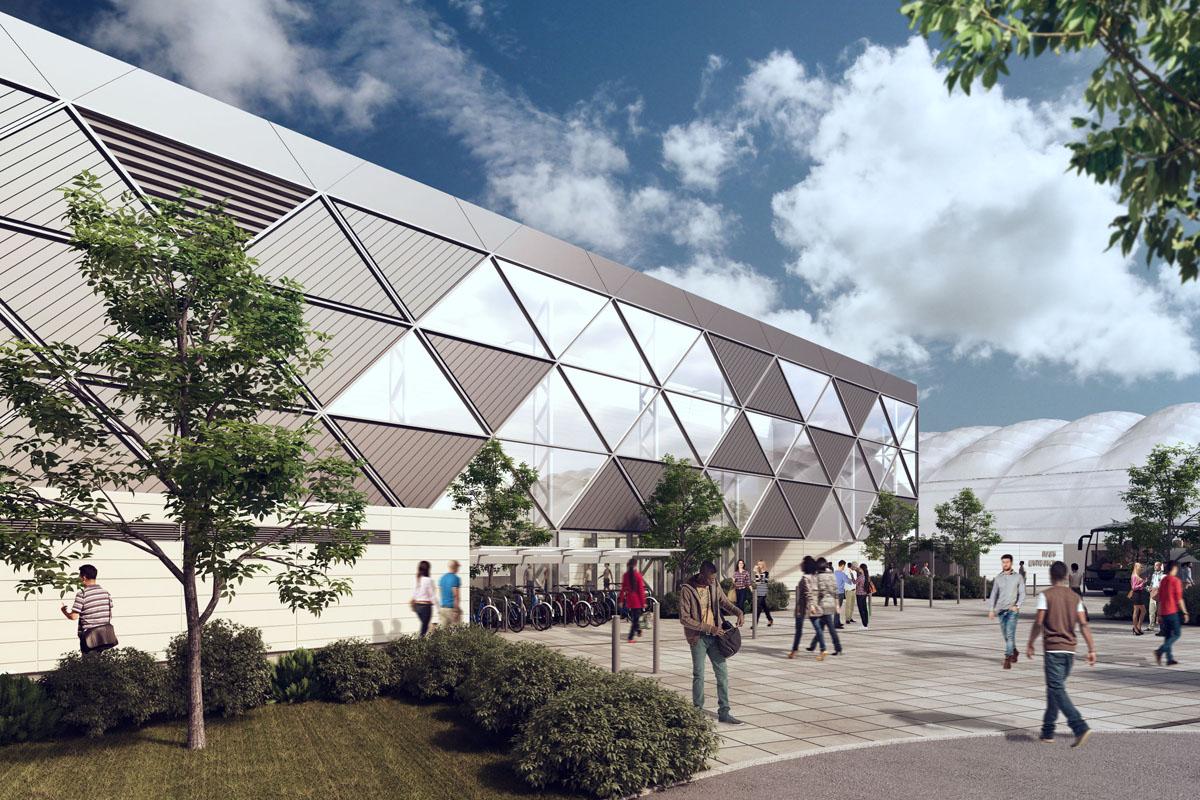 External view of National Indoor Arena