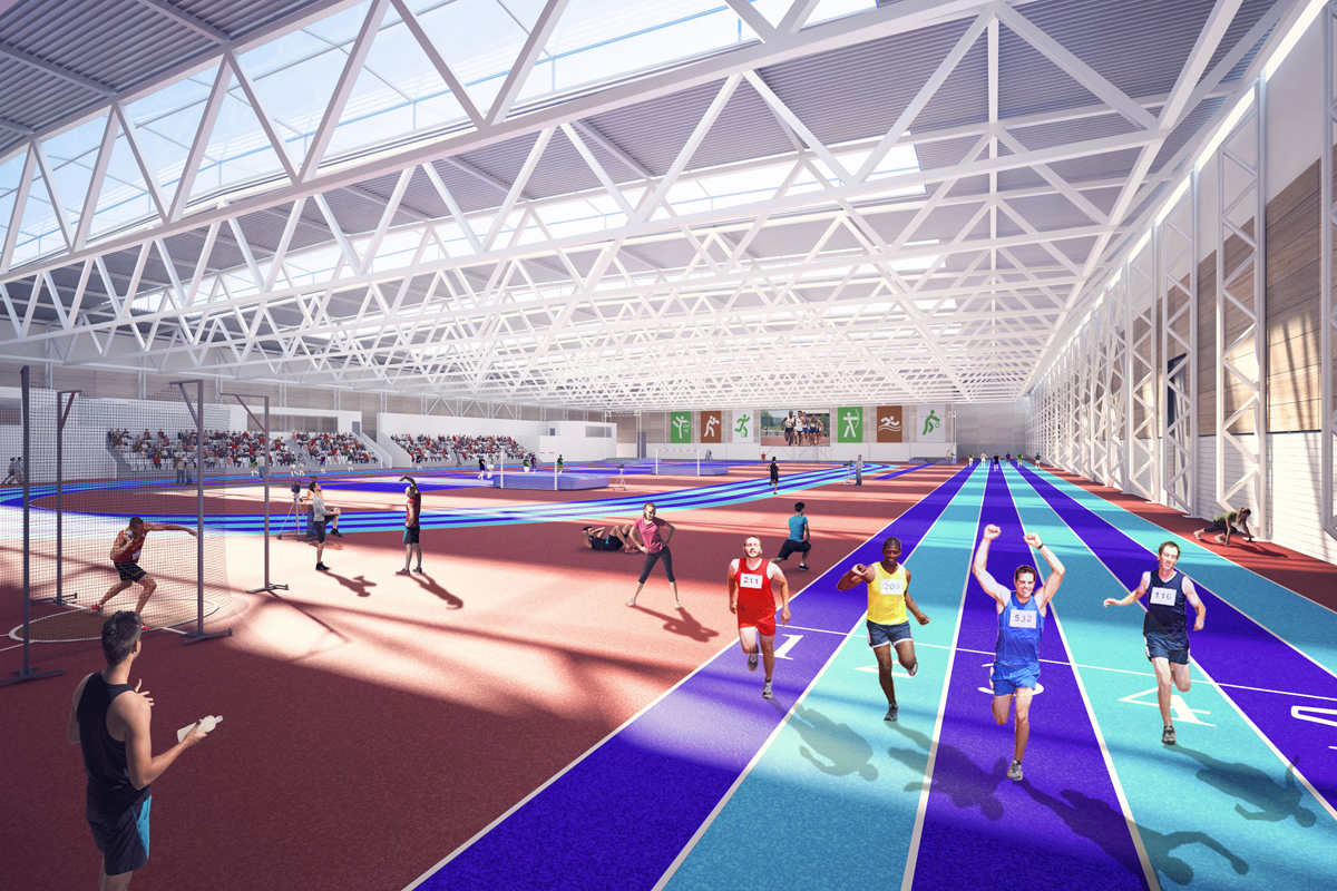 Internal view of Running Track in National Indoor Arena