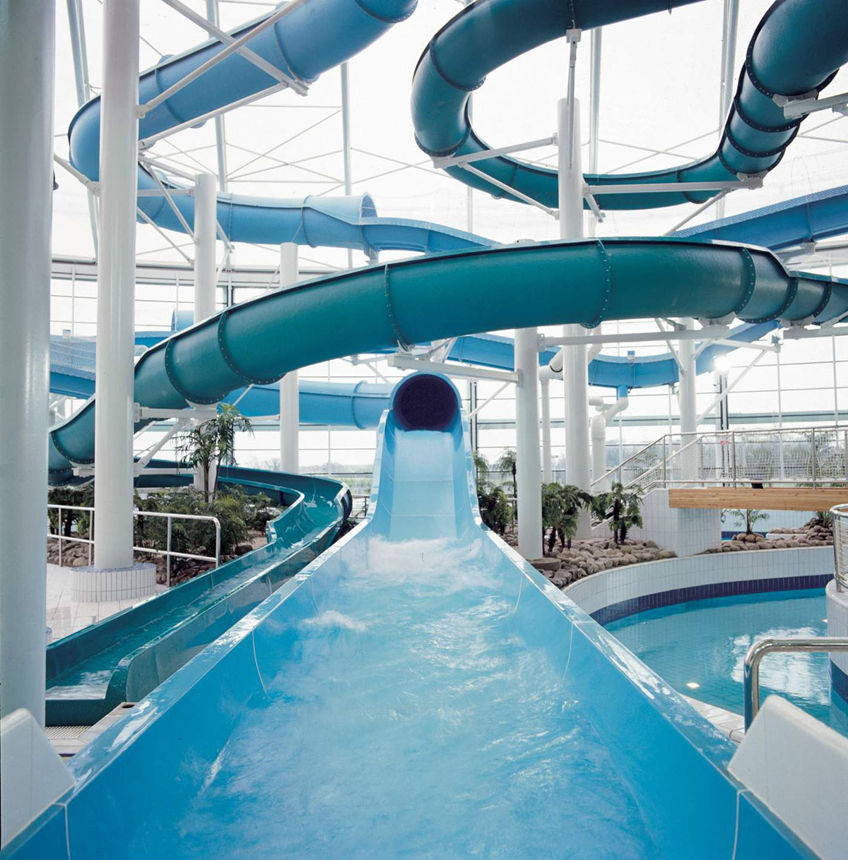 View of the Masterblaster Water Roller Coaster National Aquatic Centre