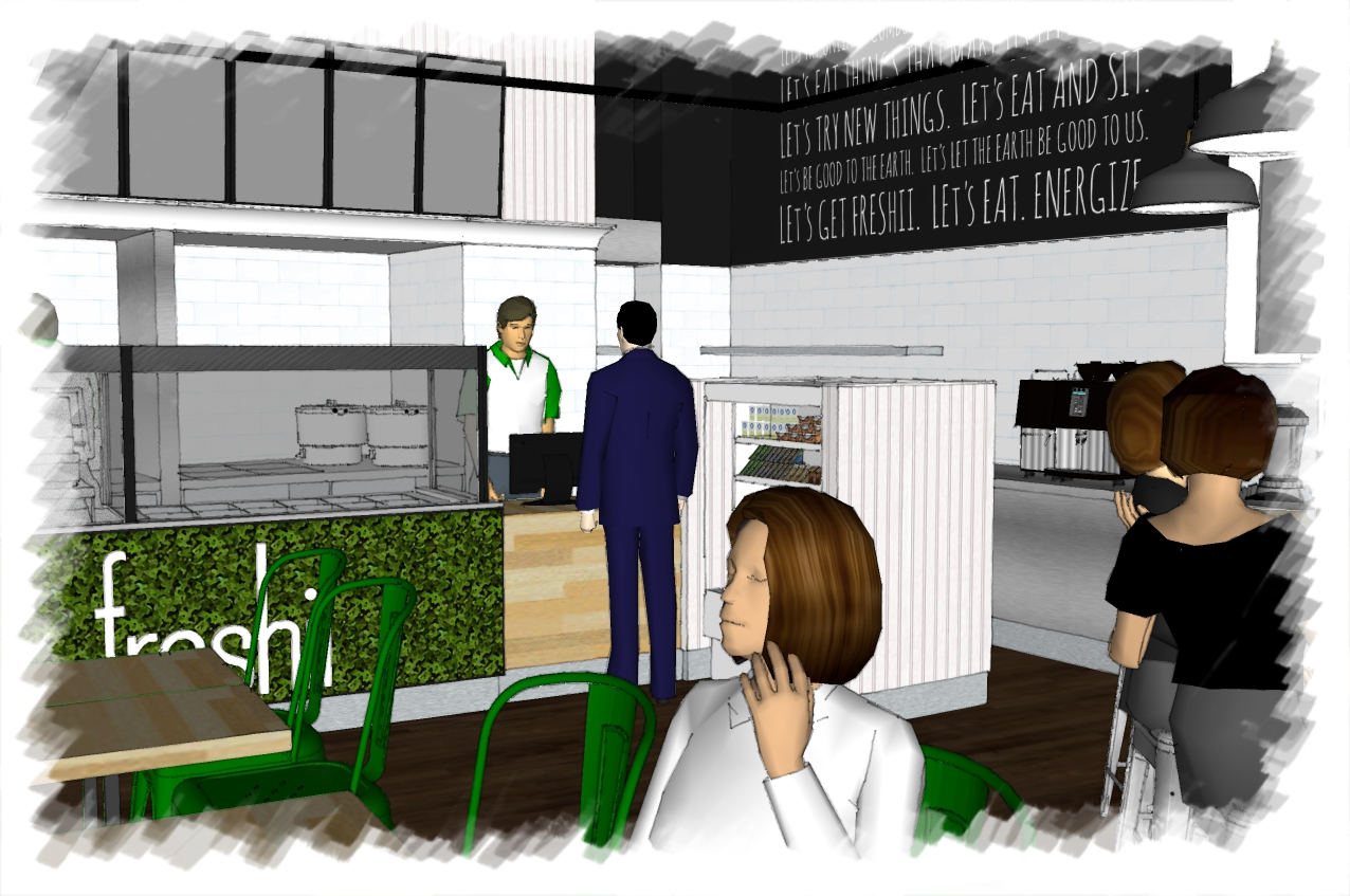 Artist Visual of Freshii Restaurant