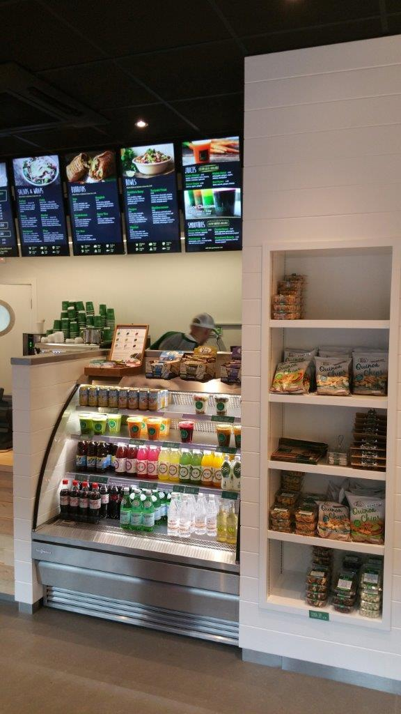 VIew of the Food Display Counter at Freshii CHQ