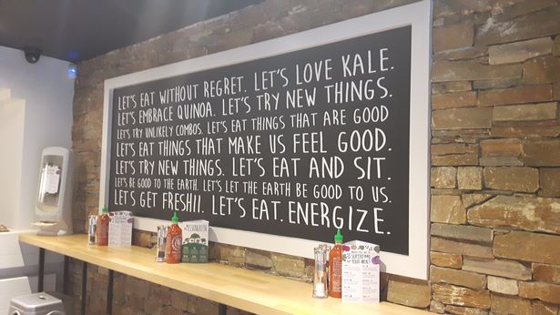 Freshii Mission Statement on Board