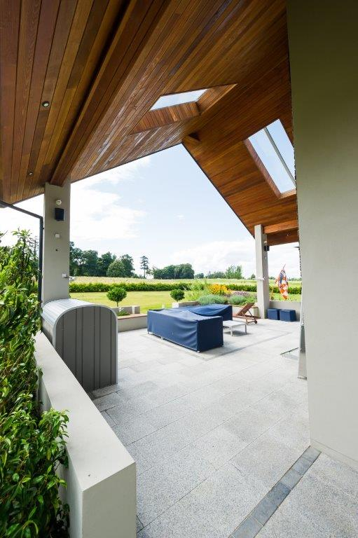 View from the entertainment space towards the golf course, Temple Wood, Carton Demesne