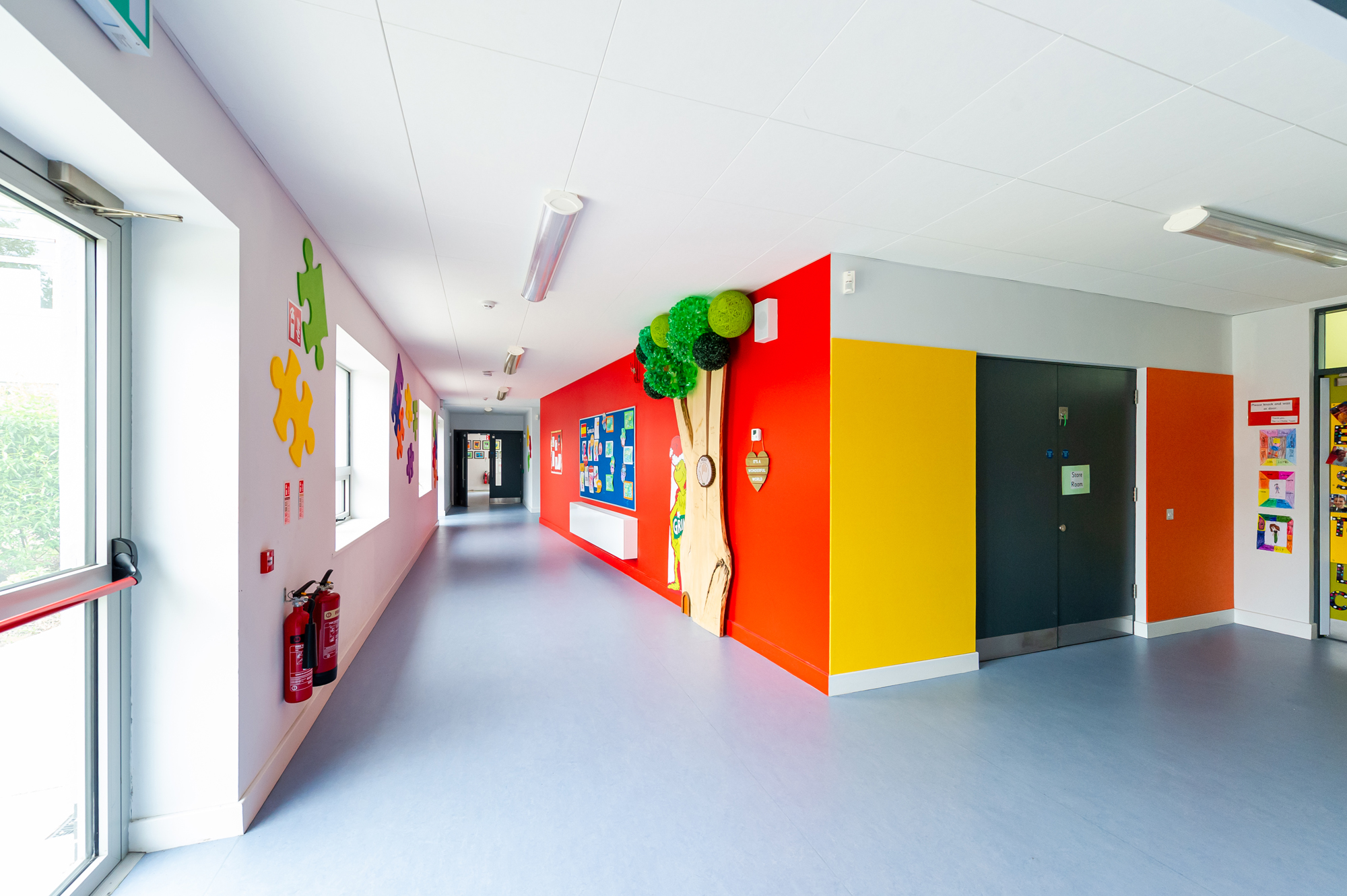 View of stimulating corridor
